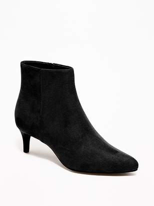 Old Navy Faux-Suede Kitten-Heel Booties for Women