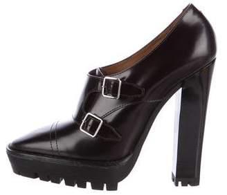 Burberry Leather Platform Booties