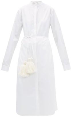 Jil Sander Cotton Pyjama Shirtdress - Womens - White