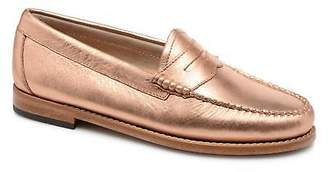 G.H. Bass Women's WEEJUN Penny metal Rounded toe Loafers in Pink