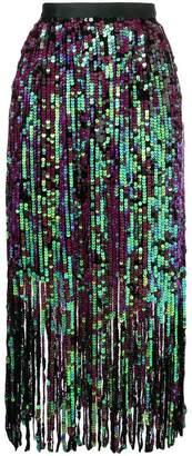 Manoush fringe sequin skirt