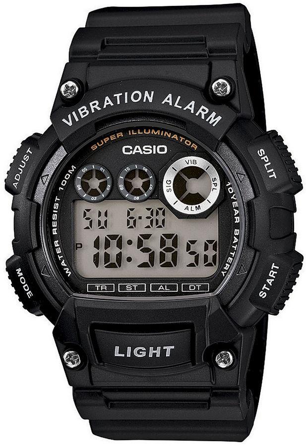 Casio Mens Black Resin Strap Digital Sport Watch W735H-1AVCF