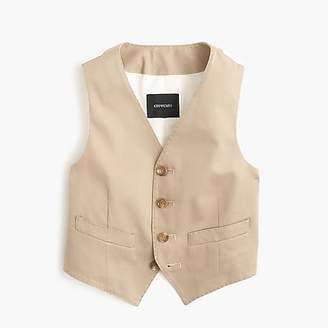 J.Crew Boys' Ludlow suit vest in Italian chino