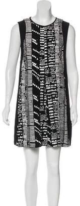Proenza Schouler Sleeveless Abstract Print Dress