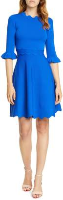 Ted Baker Lauron Fit & Flare Sweater Dress