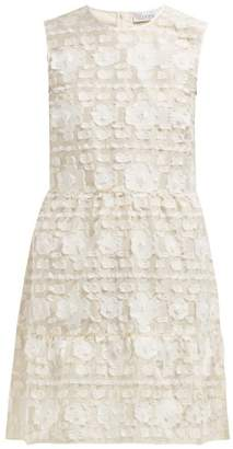 RED Valentino Floral Fil Coupe Satin Dress - Womens - Ivory
