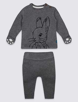 Marks and Spencer 2 Piece Pure Cotton Peter RabbitTM Top & Bottom Outfit