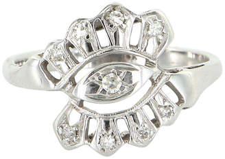 One Kings Lane Vintage 14K White Gold & Diamond Cocktail Ring - Precious & Rare Pieces