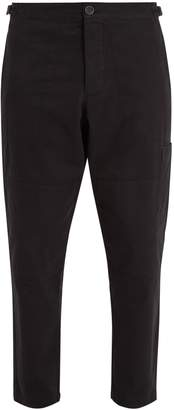 Oliver Spencer Judo tapered-leg cropped cotton-twill trousers
