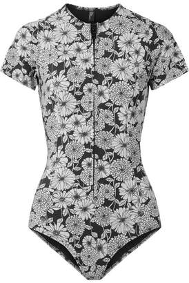 Lisa Marie Fernandez Farrah Printed Bonded Swimsuit - Black