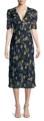 ASTR the Label Marleen Printed Midi Sun Dress