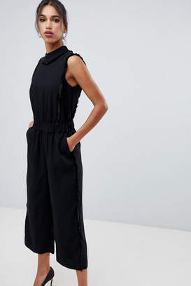Ted Baker Black Fringe Jumpsuit