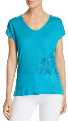Tommy Bahama Palm Paradiso Embroidered Linen Tee