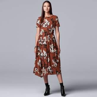 Vera Wang Women's Simply Vera Smock Detail Asymmetrical Dress