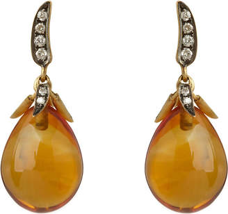 Annoushka Chilli Sunset citrine, 18cy yellow gold and diamond earrings, yellow