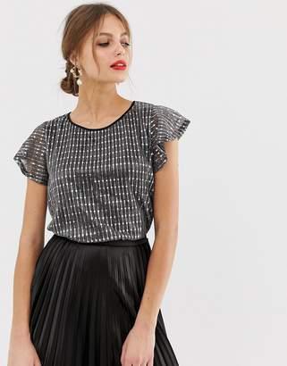 ec08e3c32bc53 Silver Sequin Plus Size Tops - ShopStyle Australia