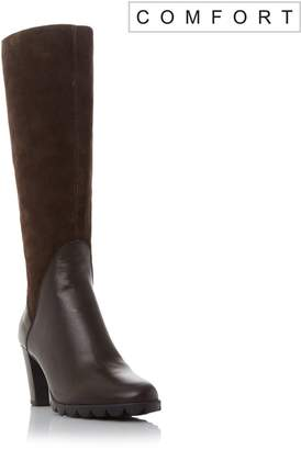Linea Comfort Seleena heeled knee high boots