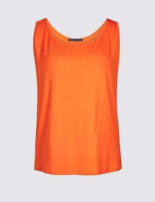 Marks and Spencer CURVE Jersey Round Neck Vest Top