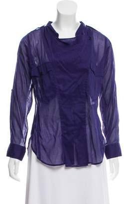 Etoile Isabel Marant Semi-Sheer Long Sleeve Top