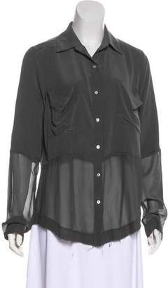 Nicole Miller Silk Button-Up Blouse
