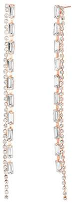 Steve Madden Crystal Glass Dangle Drop Earrings