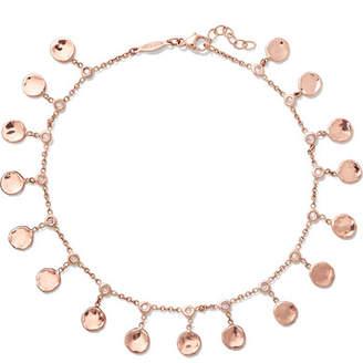 Jacquie Aiche 14-karat Rose Gold Diamond Anklet