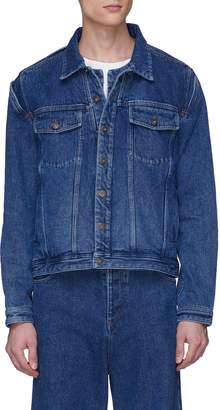 Y/Project Detachable shirt cutout unisex denim jacket