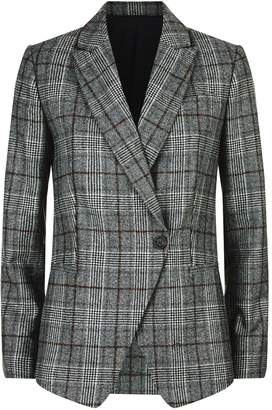 Brunello Cucinelli Sequin Collar Check Blazer