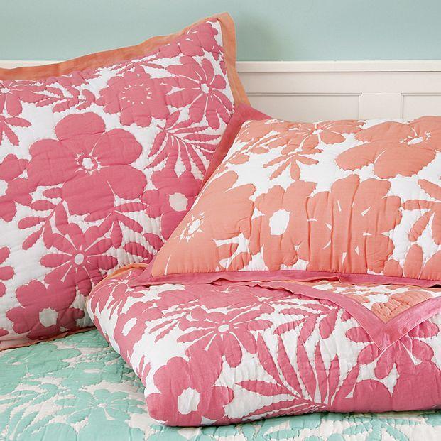 Reversible Floral Quilt & Sham
