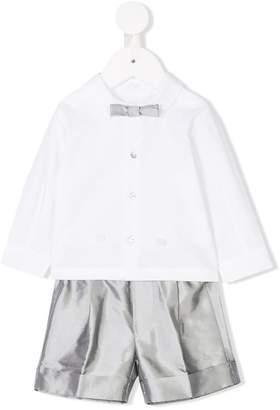 Il Gufo bow detail shirt and shorts set