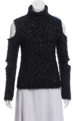 53a7fccc694e44 Jonathan Simkhai Cold Shoulder Turtleneck Sweater