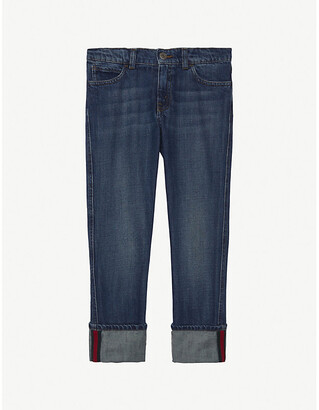 Gucci Web stripe denim jeans 4-12 years