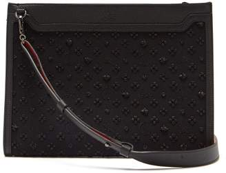 Christian Louboutin Loubi In The Sky Leather Pouch - Mens - Black