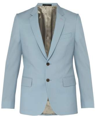 Paul Smith Soho Tailored Fit Wool And Mohair Blend Jacket - Mens - Light Blue