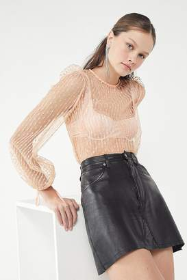 Pippi The East Order Sheer Puff-Sleeve Top