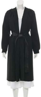 Zero Maria Cornejo Belted Long Coat