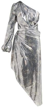 Johanna Ortiz Glassy Orchid Sequinned Asymmetric Dress - Womens - Silver