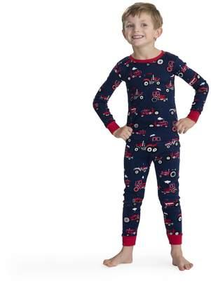 Hatley Little Boys' Organic Cotton Long Sleeve Printed Pajama Sets