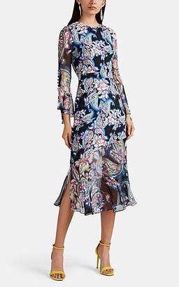 Prabal Gurung Women's Rania Paisley Silk Crepe Dress - Black Multi