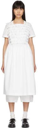 Comme des Garcons White Lace Ruffle Dress