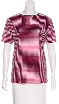 Marni Striped Short Sleeve Top