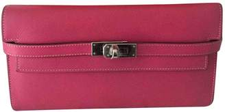 Hermes Kelly Pink Leather Wallets