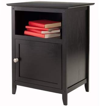 Winsome Wood Nightstand with Door, Multiple Colors