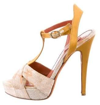 Missoni Platform T-Strap Sandals