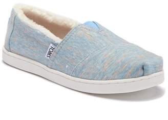 Toms Heather Jersey Faux Fur Lined Slip_on Shoe (Little Kid & Big Kid)