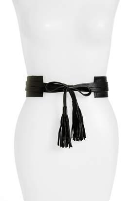 Raina Bronco Leather Wrap Belt