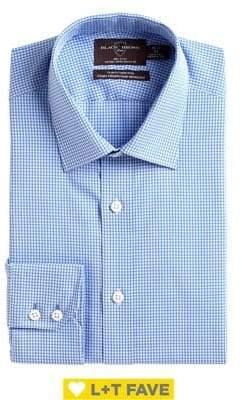 Black & Brown Black Brown Slim Fit Check Cotton Dress Shirt