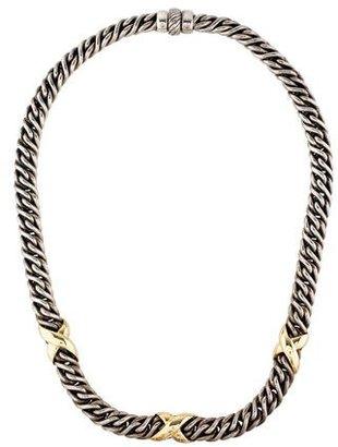 David Yurman Wheat Chain X Necklace $695 thestylecure.com