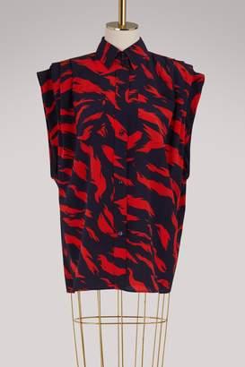 Givenchy Tiger sleeveless blouse