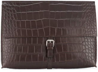 Orciani foldover buckle pouch
